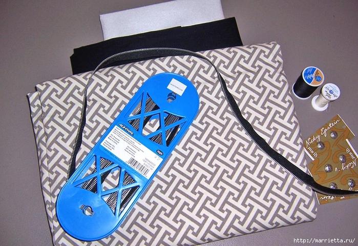 Как сшить стильную сумку с цветами из молний. Мастер-класс (24) (700x480, 325Kb)