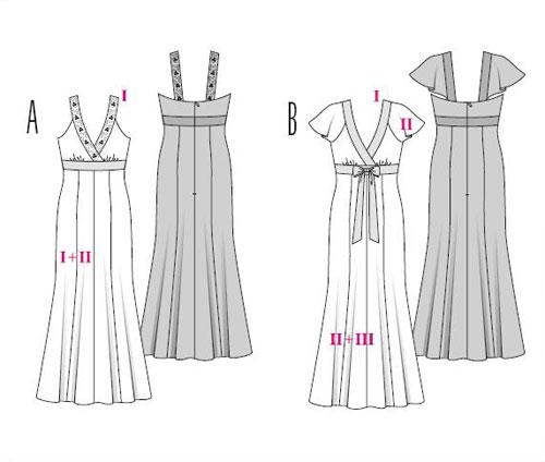 Модели вечерних платьев, фото с выкройками