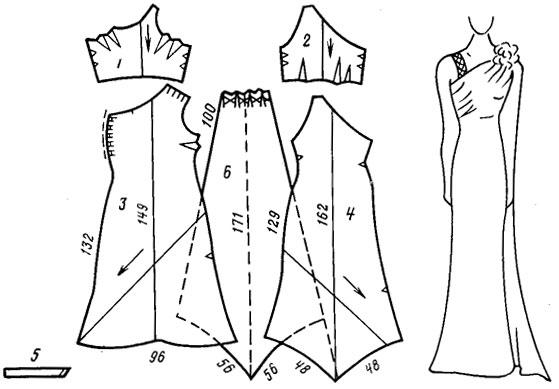 Выкройка вечернего платья в пол бесплатно