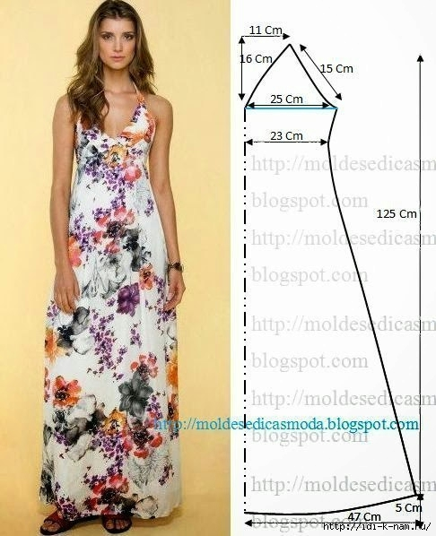 Выкройка платья лето
