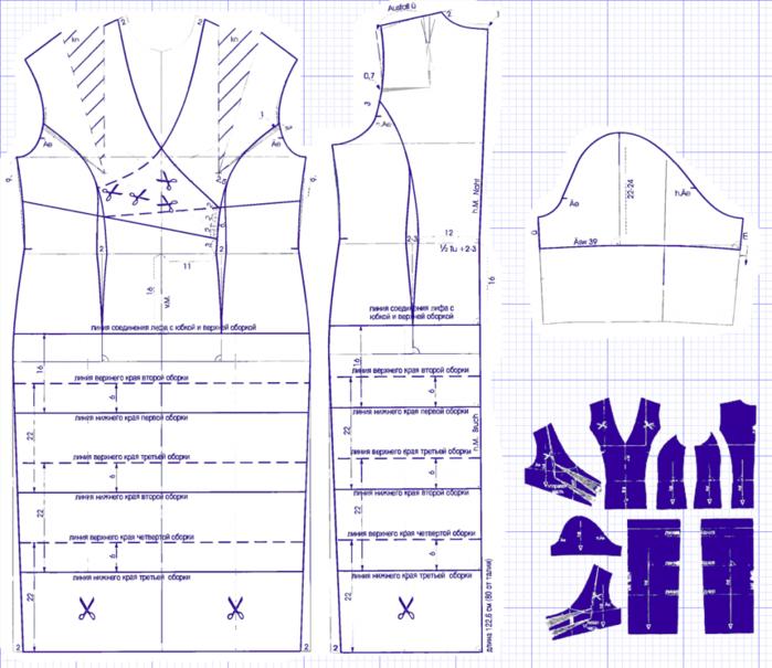 Готовые выкройки платьев для начинающих простые