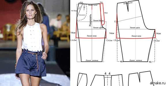 Как сшить шорты большого размера своими руками7