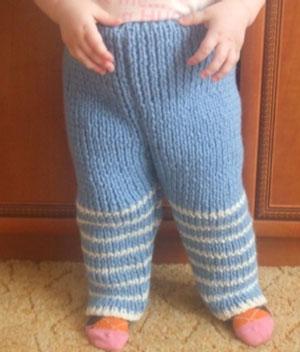 Вязание штанов девочке 2 года
