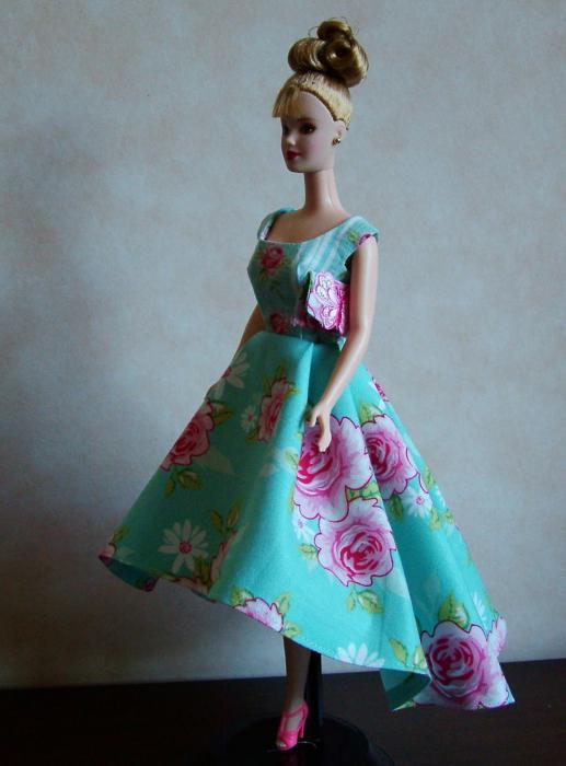 Шьем платья для барби своими руками