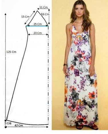 Сшить простое длинное платье на лето
