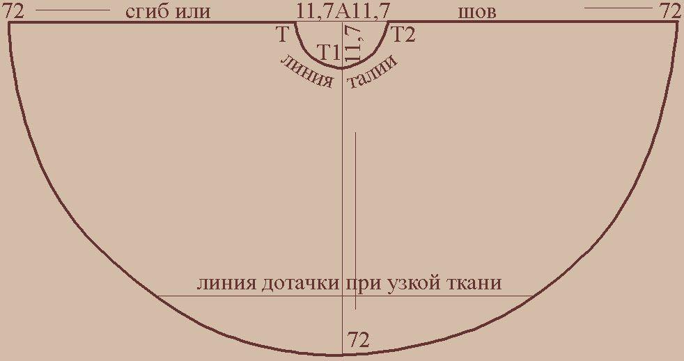 Юбка Полусолнце 6 Класс