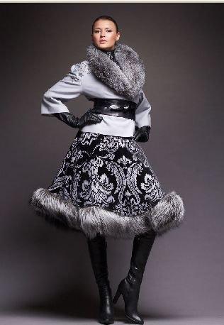 Платье с мехом своими руками