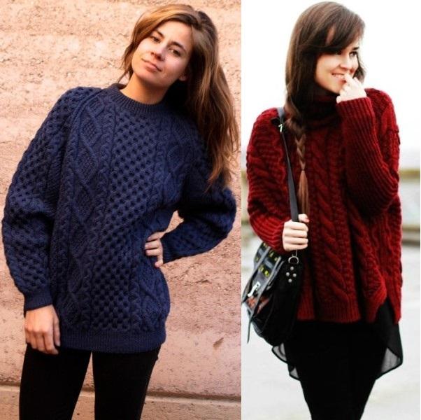 Модные Вязаные Джемпера 2015