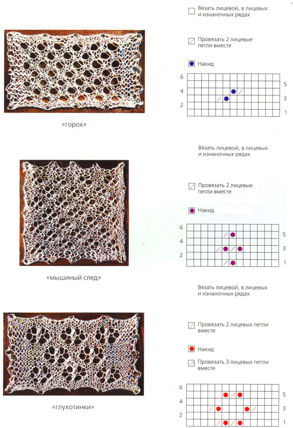 схема вязания пухового платка