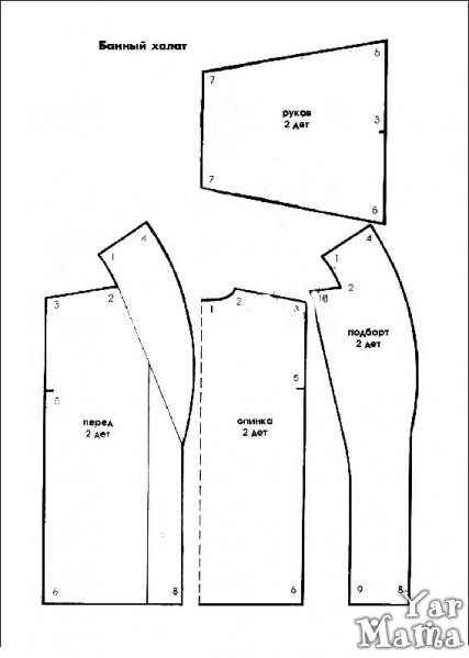 Выкройка джинсовой жилетки - Кройка и