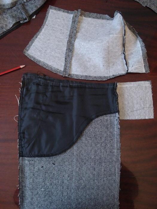 Как сделать их штанов юбку 858
