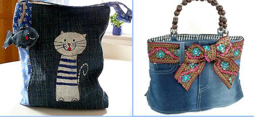 Пляжная сумка из джинсовой ткани своими руками 99