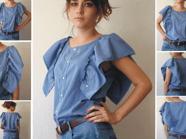 Как перешить мужскую рубашку в женскую мастер