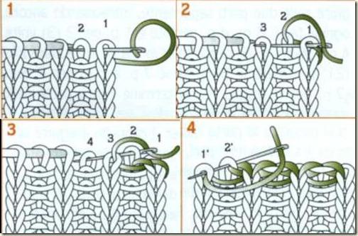 Как вязать резинку спицами 2 на 1