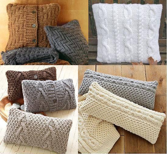 Подушки вязаные декоративные своими руками фото