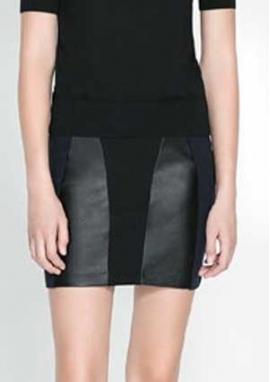 0b318572c82 Как сшить мини-юбку с кожаными вставками Шьем женскую мини-юбку с кожаными  вставками сами