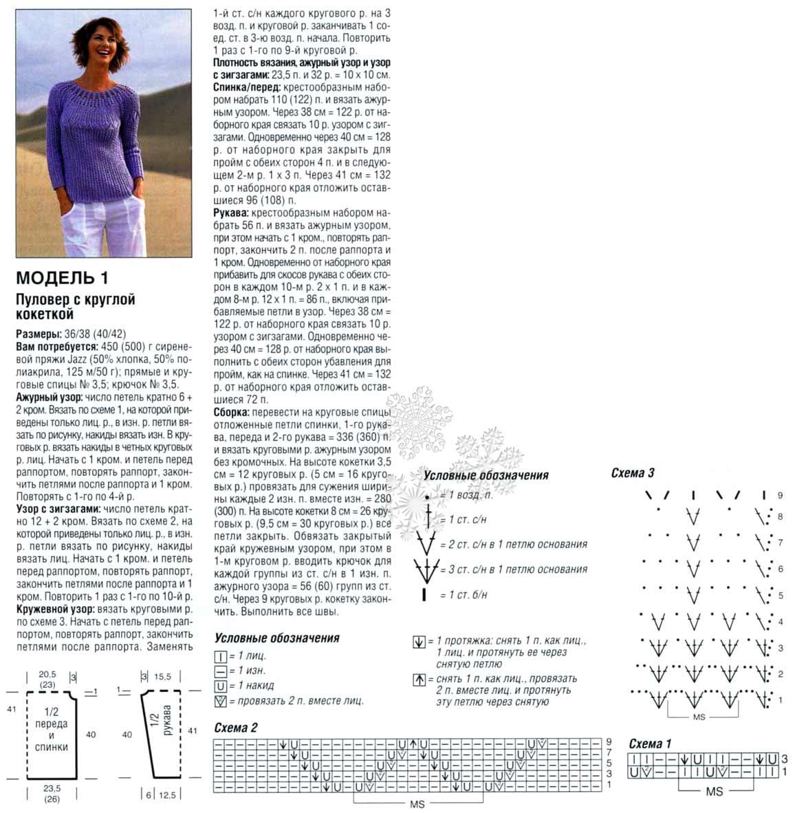 Вязаные кофточки для женщин. Схемы и описания вязания спицами 43
