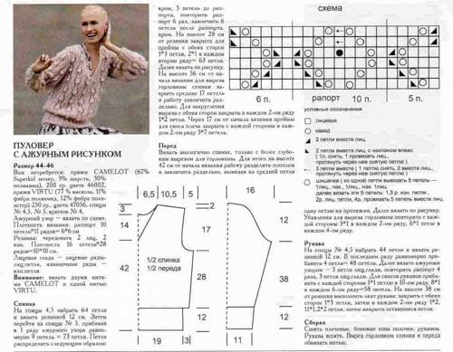Вязанные свитера женские-2017 со схемами спицами